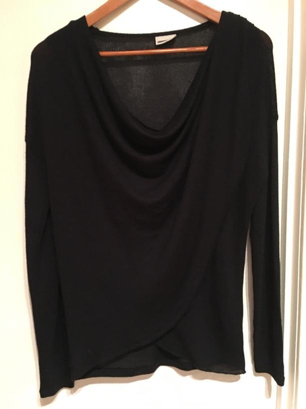 black cross style sweater