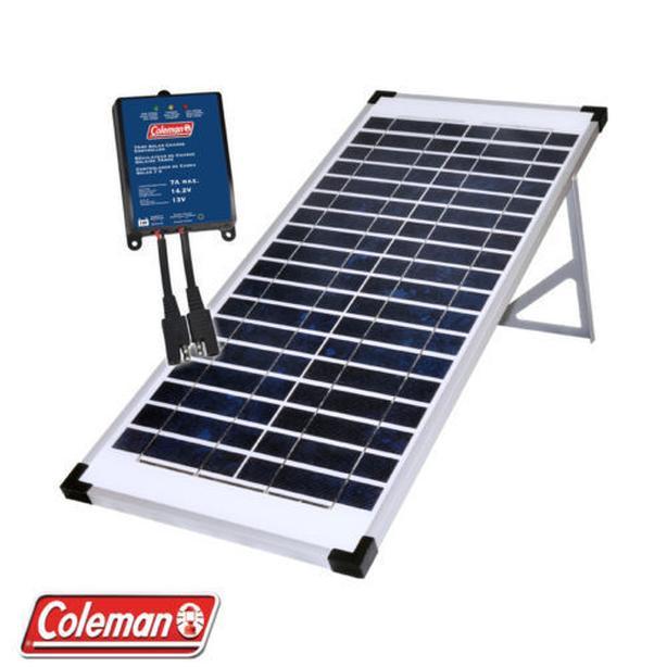25 watt Coleman/Sunforce Solar Panel w/charge controller kit