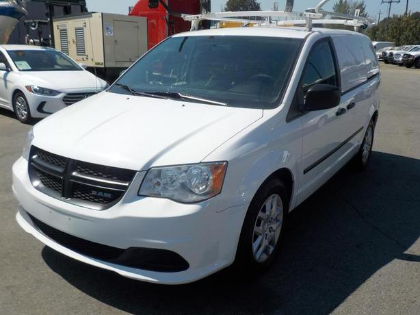 2014 Dodge RAM Caravan Cargo Van with Bulkhead Divider, Shelving, & Ladder Rack