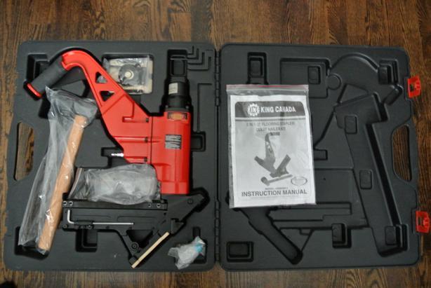 King Canada 2 in 1 Flooring Stapler/Cleat Nailer Kit