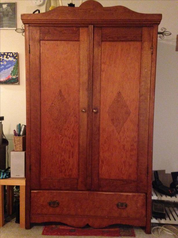 Antiqued Pine armoire