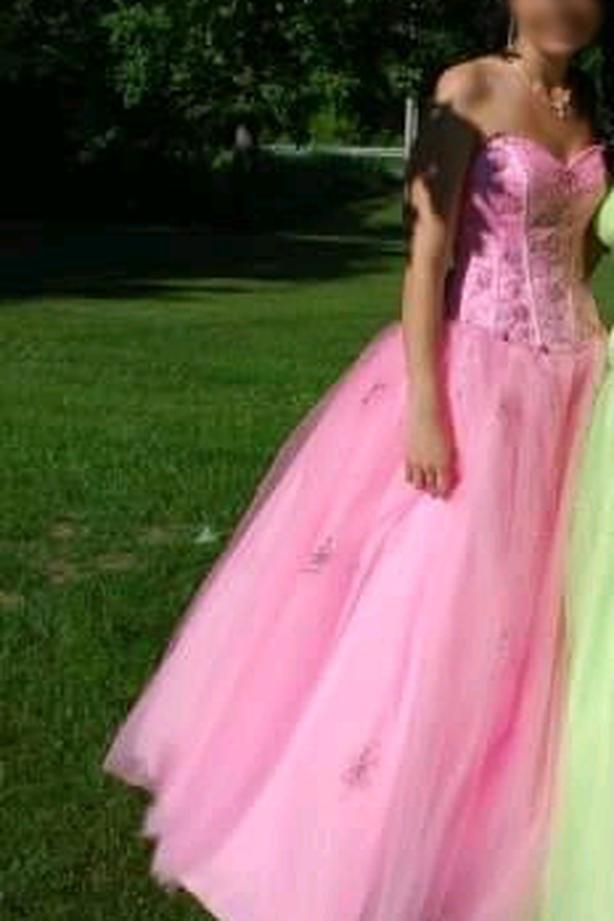 Like New Mori Lee Pink Cinderella Dress - $300