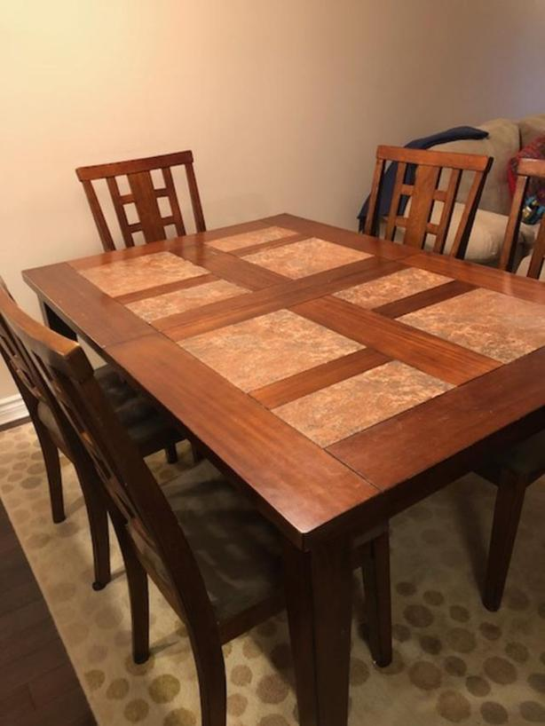 Dining table with chairs - moving sale - price reduced