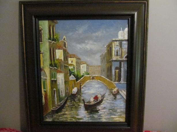 Venice Italy Oil on Canvas Painting   $90. or best offer