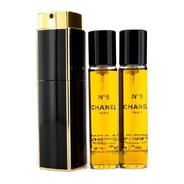 Chanel No5 - Eau De Parfum - 3x 20ml, purse spray, new & sealed