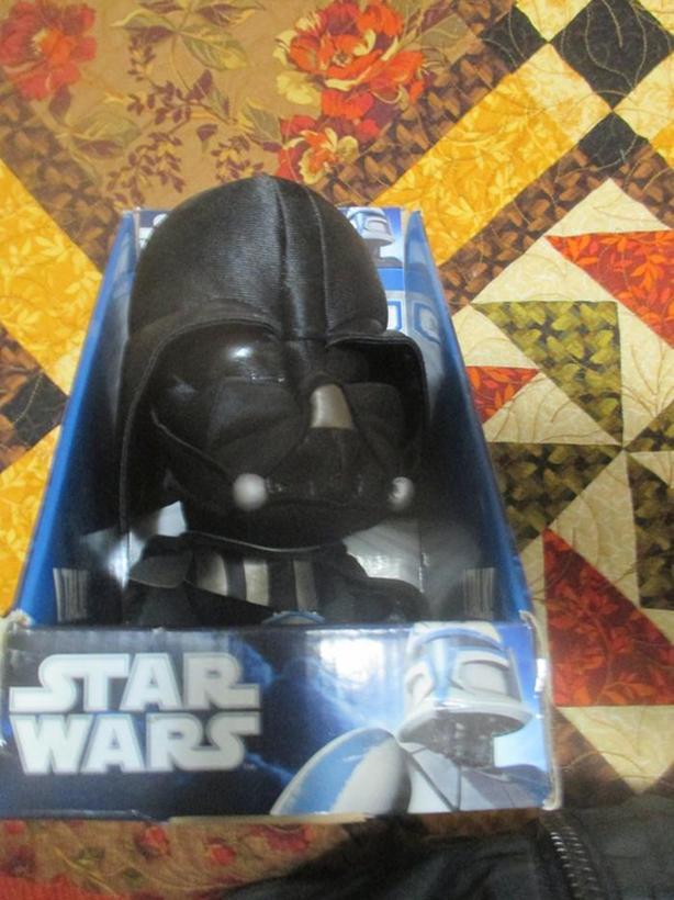 "Talking Darth Vader Star Wars  Plush Doll 9"" Underground Toys"