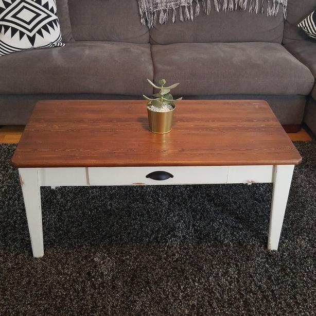 Refinished Rustic Coffee Table Esquimalt View Royal Victoria