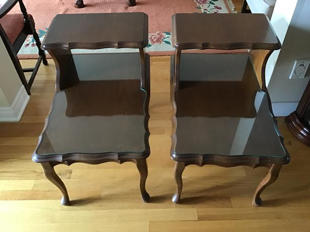 Beautiful VINTAGE matching end tables