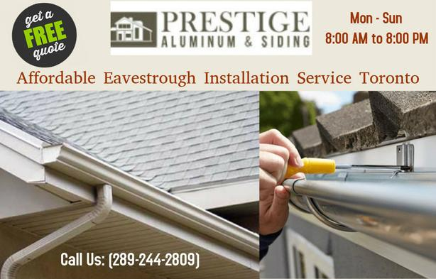 Best Eavestrough Installation Service Toronto