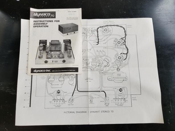 VINTAGE DYNACO ST-70 INSTRUCTIONS / SCHEMATIC - ORIGINAL