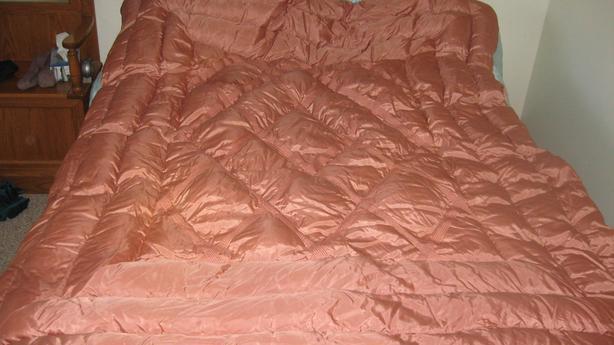 Vintage Taffeta Satin Down Filled Comforter circa 1930