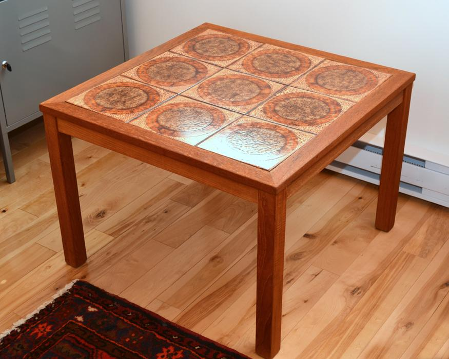 MCM Teak and Tile Coffee or Side Table Sooke, Victoria