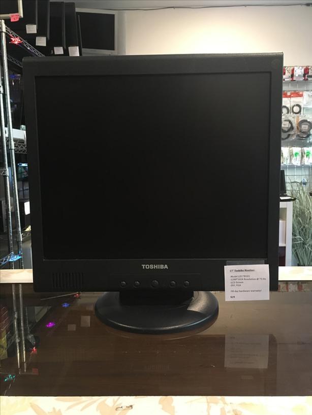 "17"" Toshiba Computer Monitor w/ Warranty!"