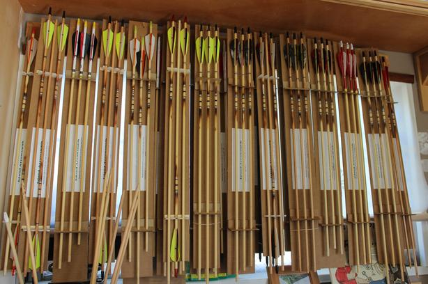 Traditional archery arrows and fletching supplies