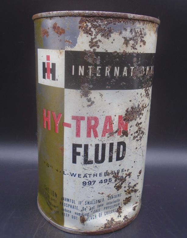 VINTAGE 1950's INTERNATIONAL HARVESTER HY-TRAN FLUID QUART CAN
