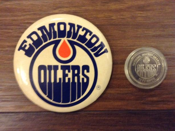 new products 6deb5 00afc  Log In needed $20 · Edmonton Oilers Button and 79-80 Hockey Medallion For  Sale