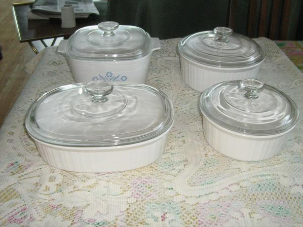 NEW  PRICE  -  CORNINGWARE  NEVER  USED  CASSEROLE  DISHES - $15.00  EACH