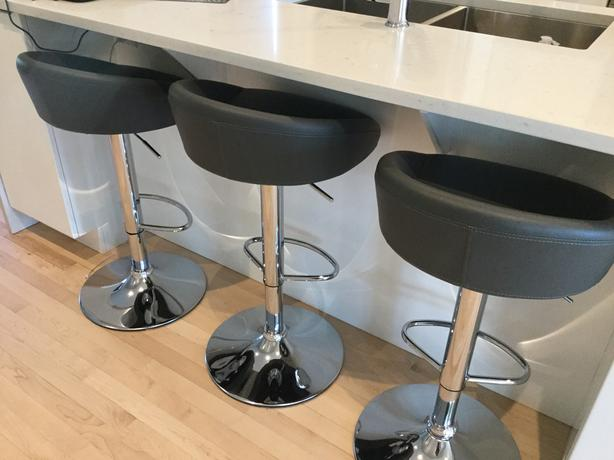 Three Contemporary Adjustable Stools