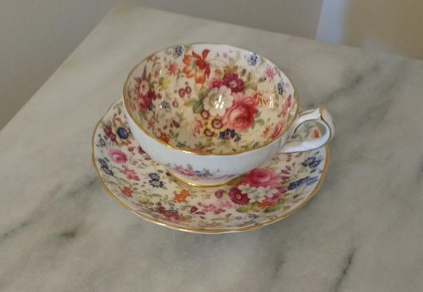 HAMMERSLEY CHINTZ CUP AND SAUCER