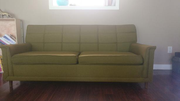Incredible Log In Needed 150 1950S Pull Out Mid Century Green Sofa Caraccident5 Cool Chair Designs And Ideas Caraccident5Info