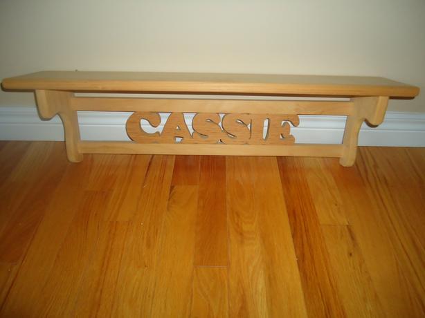 CASSIE Decorative Pine Shelf