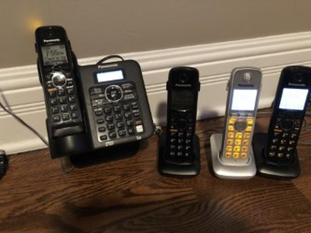 Panasonic KX-TG6641c Four Handsets Single Line Cordless Phone