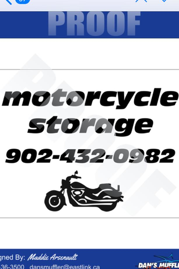 WINTER STORAGE (MOTORCYCLE)