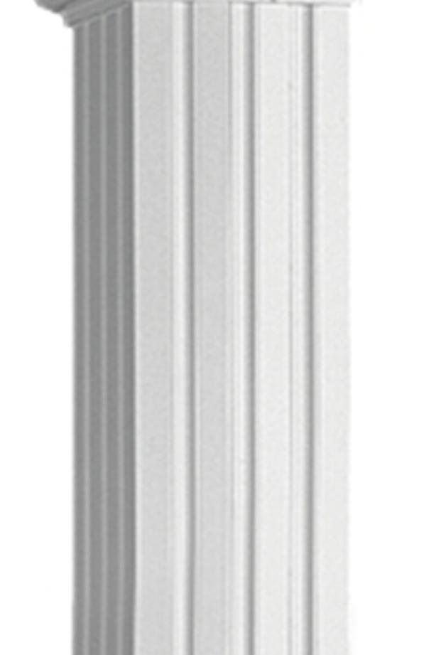 8 inch square x 18 feet white aluminum column - NEW