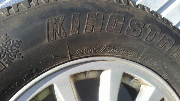 4 winter tires on Ford rims for sale