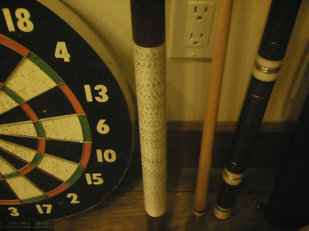 Pool Cues  & dart board
