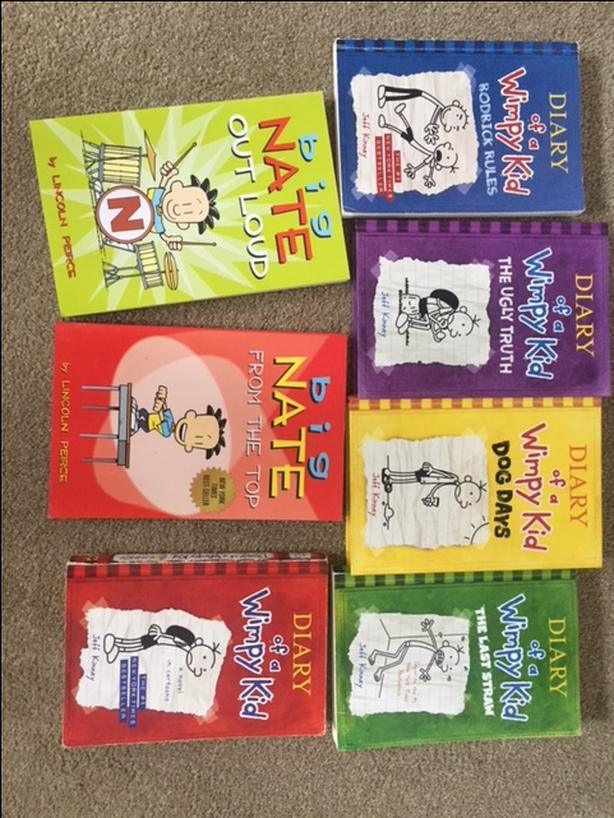 Big Nate and Diary of a Wimpy Kid books