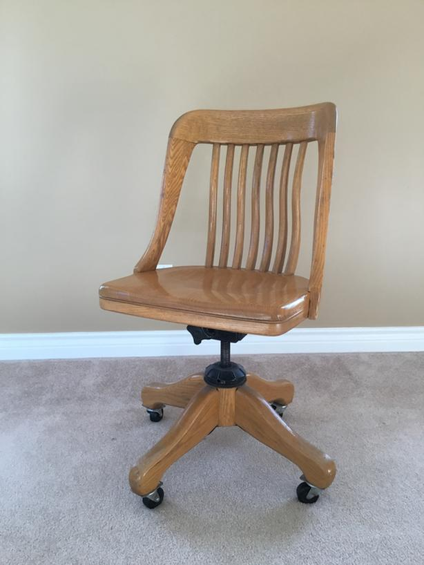 Solid Oak Office Chair Antique Oak Bay Victoria