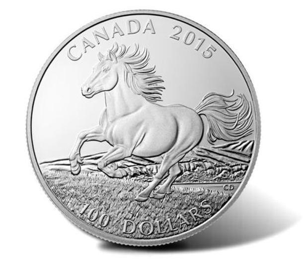 SILVER HORSE 100 DOLLAR COIN Esquimalt & View Royal, Victoria