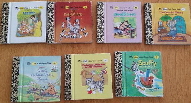 7 Children's Little Golden Books
