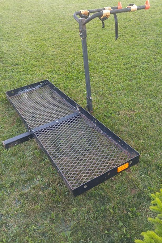 trailer hitch platform and bicycle carrier combo