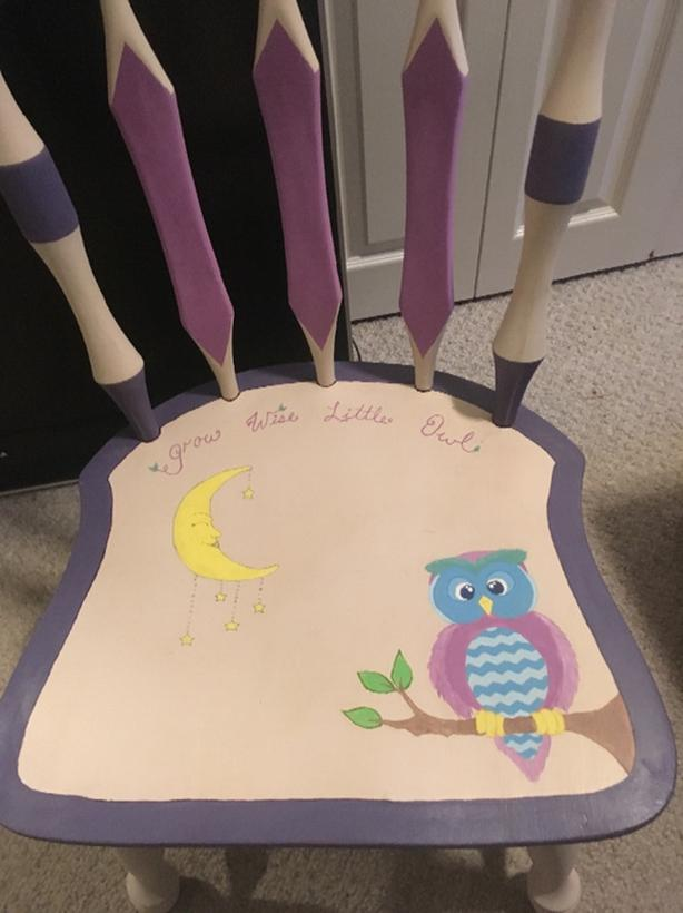 kids chair hand painted
