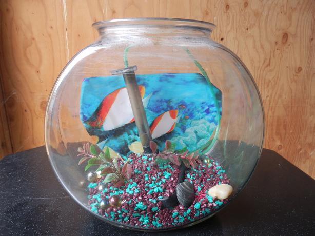 Vintage thick glass Fish Bowl / small Terrarium