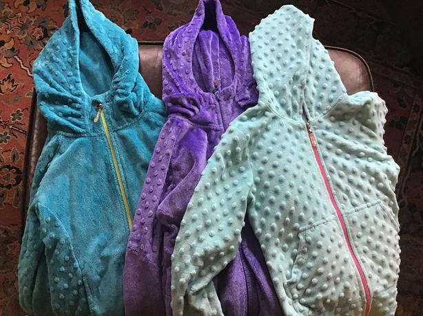 Three triple flip/ yogini Minky jackets