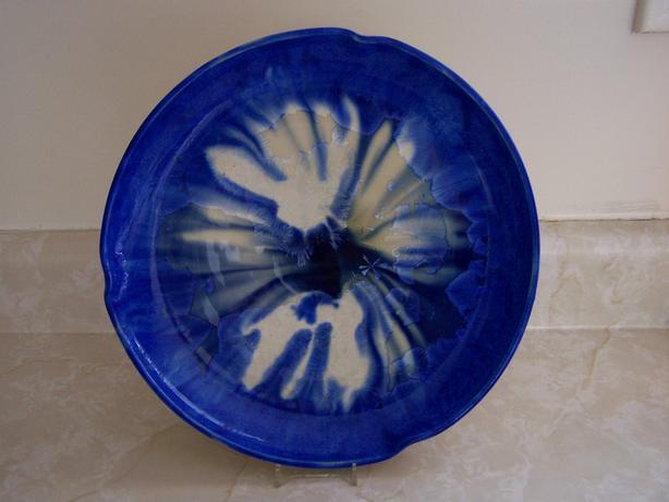 Pottery Serving Platter- Crystalaine glaze