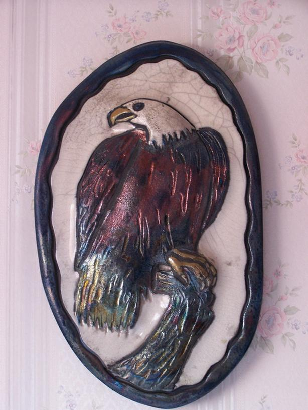 Pottery Wall Art - Eagle