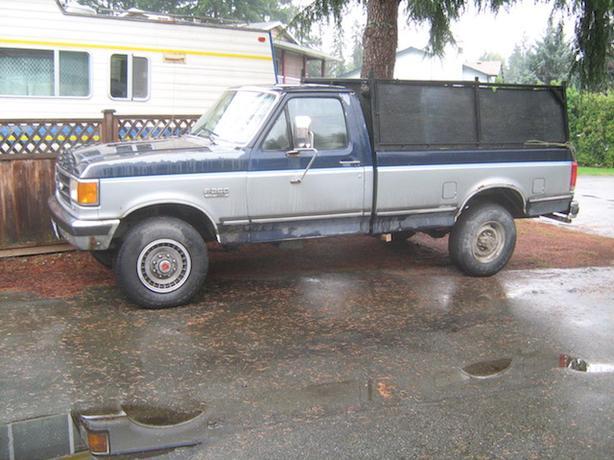 91 F250 4x4 camper special