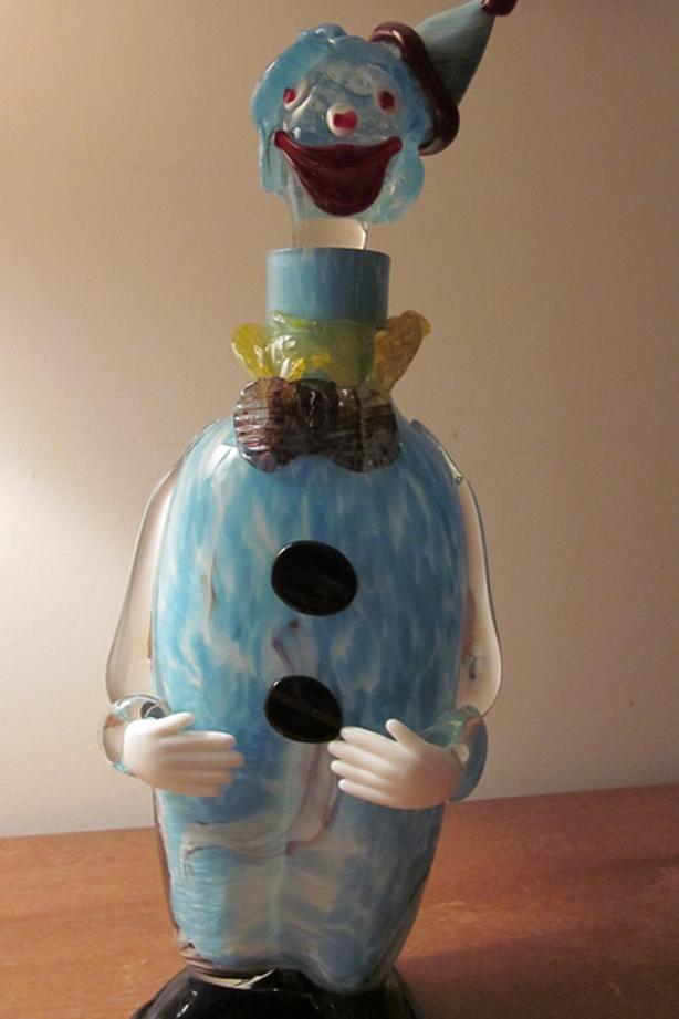 Murano Art Glass Clown Decanter  Made in Italy