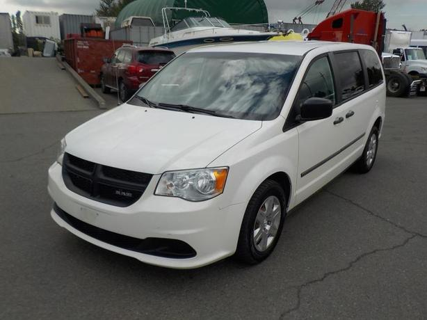 2012 Dodge Caravan Cargo Van with Shelving and Bulkhead Divider