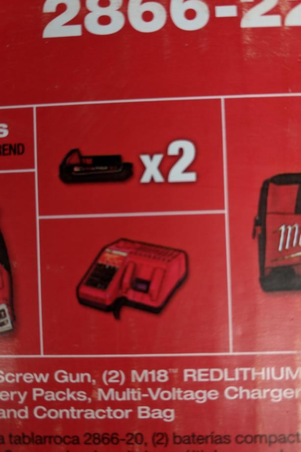 Milwaukee 2x 2.0 Batteries with Charger *Brand New