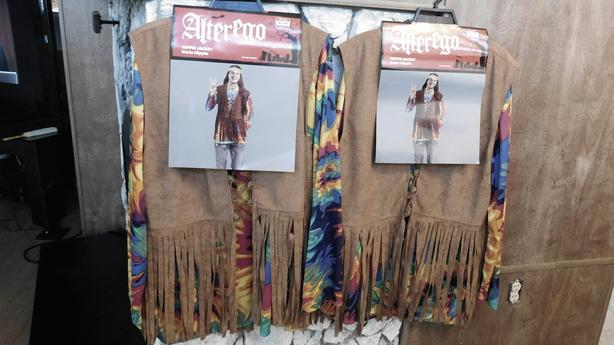 Adult Hippie/Flower Child costume with accessories