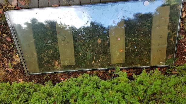 FREE: Glass panes from old sliding glass door