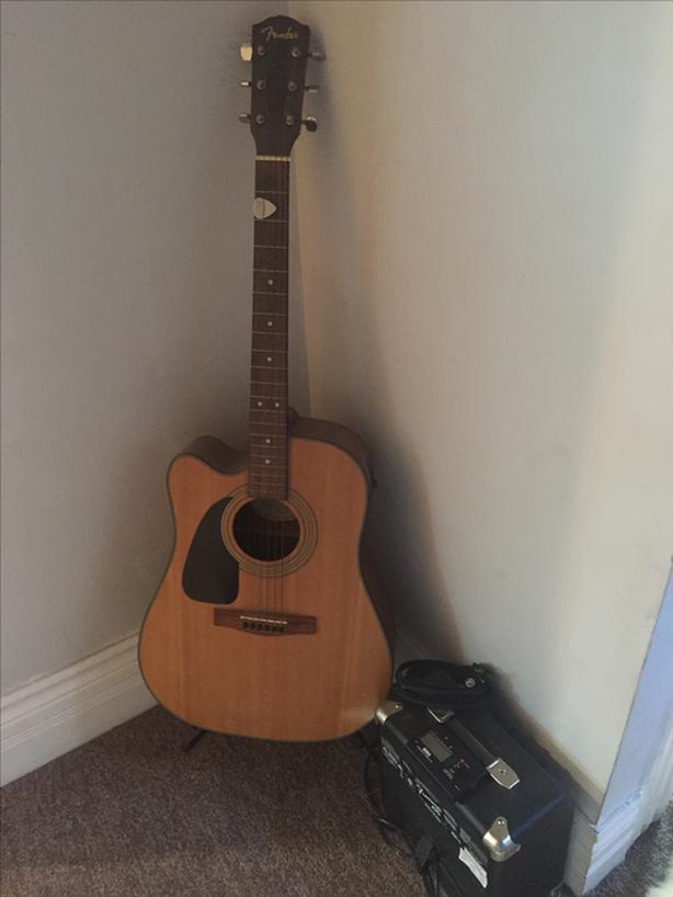 Fender Acoustic Guitar and Amp