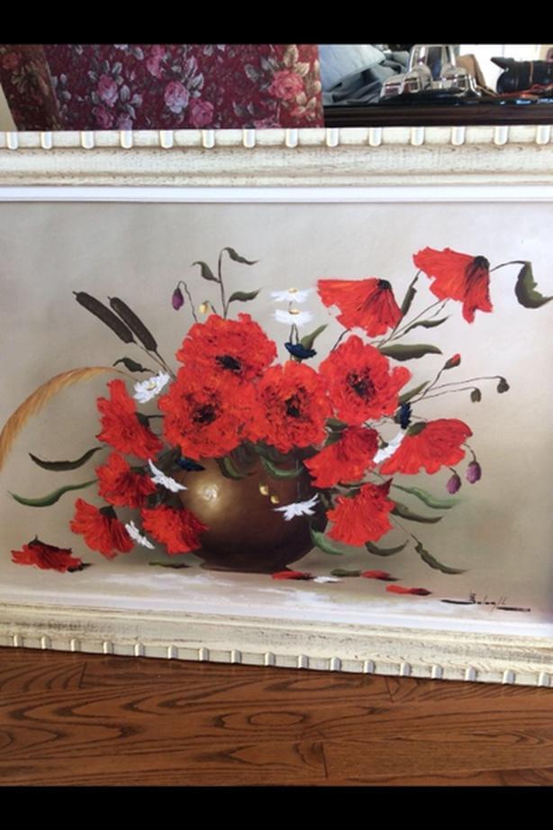 Original poppies flower oil painting saanich victoria original poppies flower oil painting mightylinksfo