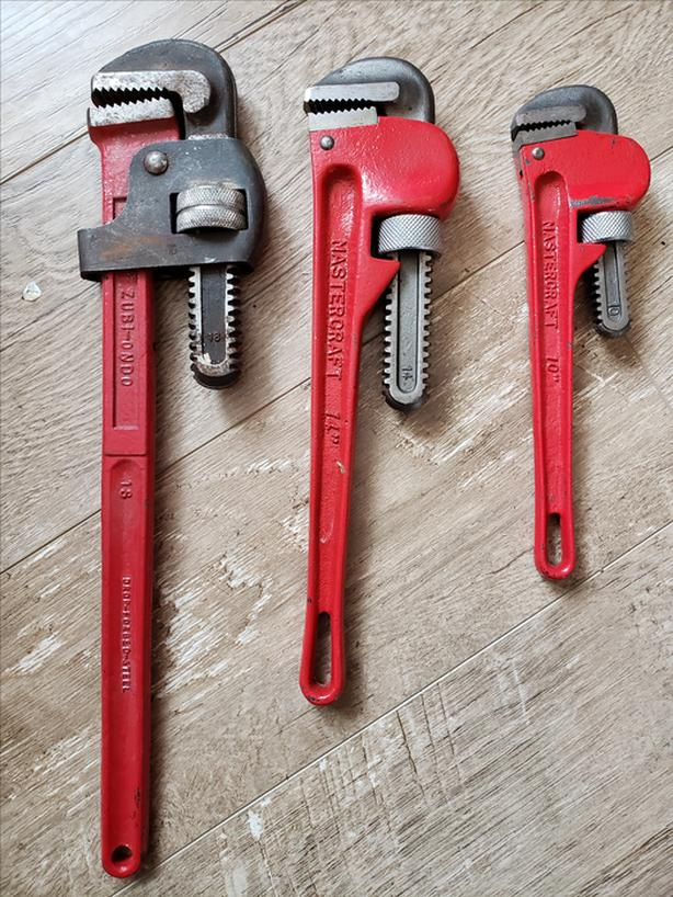 Set of 3 Pipe Wrenches