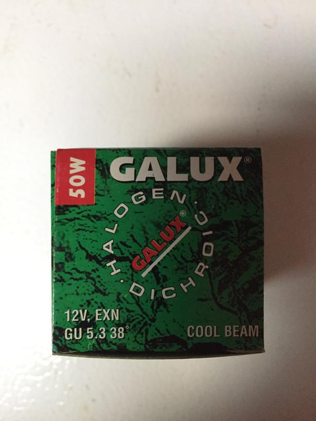 37 - Galux 12 volt 50w halogen MR16 lamps